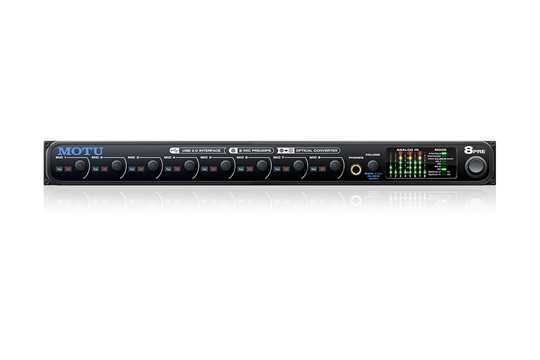 MOTU 8PRE USB 8-Channel Mic Preamp Audio interface