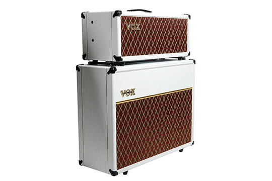 VOX AC15C Limited Edition White Bronco Guitar Amplifier Stack