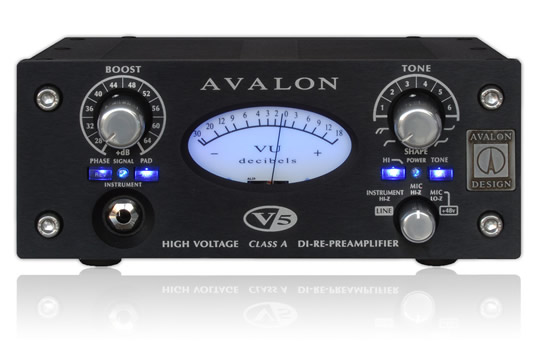 Avalon V5 ANNIVERSARY EDITION Class A DI Box-Mic Preamplifier