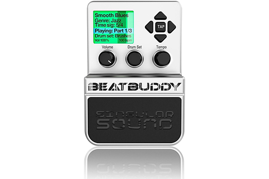 singular sound beatbuddy drum machine guitar effects pedal hr. Black Bedroom Furniture Sets. Home Design Ideas