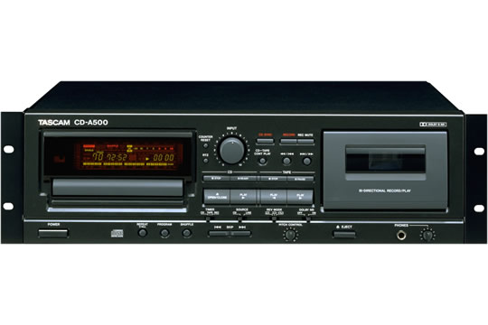 TASCAM CD-A500 CD Player Cassette Recorder