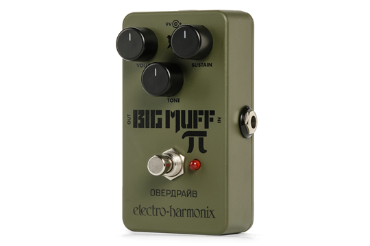 Electro-Harmonix Green Russian Big Muff Distortion Sustainer Effects Pedal