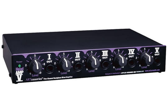 ART HEADAMP 5 5-Channel Headphone Mixer-Amp