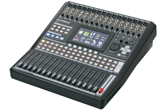 phonic is16 touch screen digital mixer mixing console hr. Black Bedroom Furniture Sets. Home Design Ideas