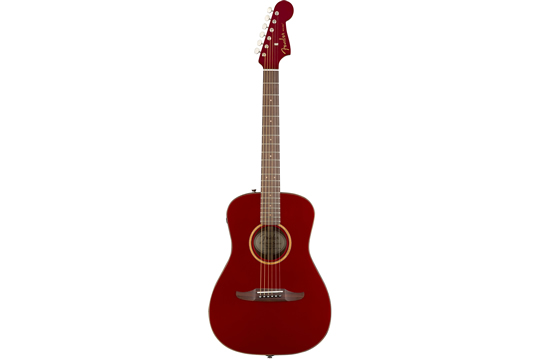 Fender Malibu Classic Acoustic-Electric Guitar (Red Metallic)
