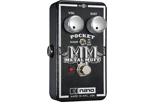Electro-Harmonix Pocket Metal Muff Distortion Effects Pedal