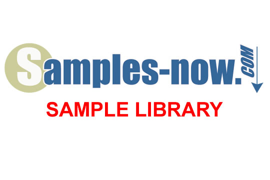 Samples Now Sample Library $49.95