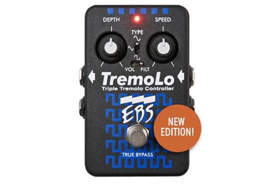 EBS TremoLo Analog Triple Tremolo Effects Pedal